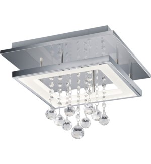 Dorian Small Rectangular Ceiling Mount in Chrome