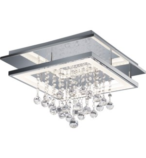 Dorian Large Rectangular Ceiling Mount in Chrome