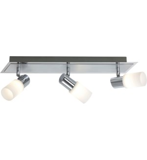 Dallas 3 Light Ceiling Mount in Brushed Aluminum