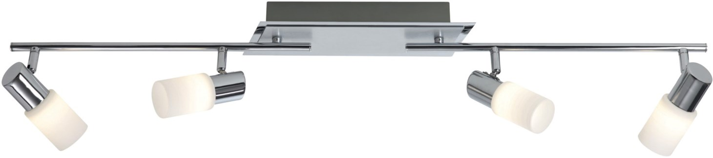 Dallas 4 Light Ceiling Mount in a Line in Aluminum Colored