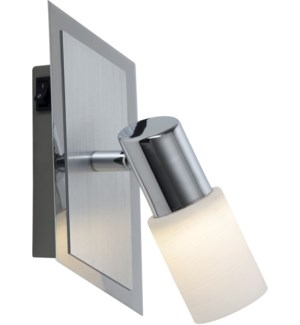 Dallas 1 Light Wall Mount in Brushed Aluminum