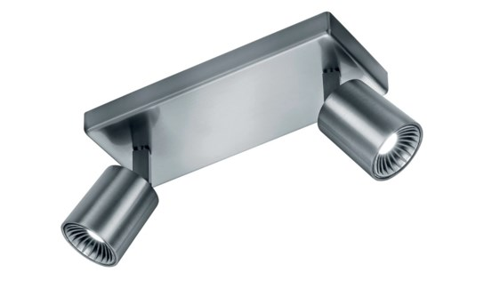 Cayman 2 Light Ceiling Mount in Satin Nickel