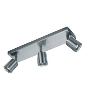 Cayman 3 Light Ceiling Mount in Satin Nickel