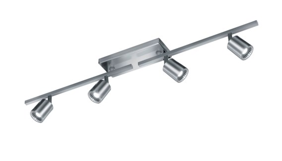 Cayman 4 Light Ceiling Line Mount in Satin Nickel