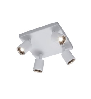 Cayman 4 Light Ceiling Mount in White
