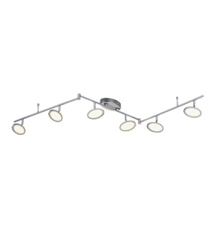 Duellant 6 Light Ceiling Mount in Chrome