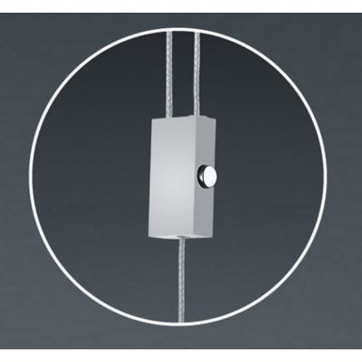Ghia Pendant Fixture in Satin Nickel/Chrome