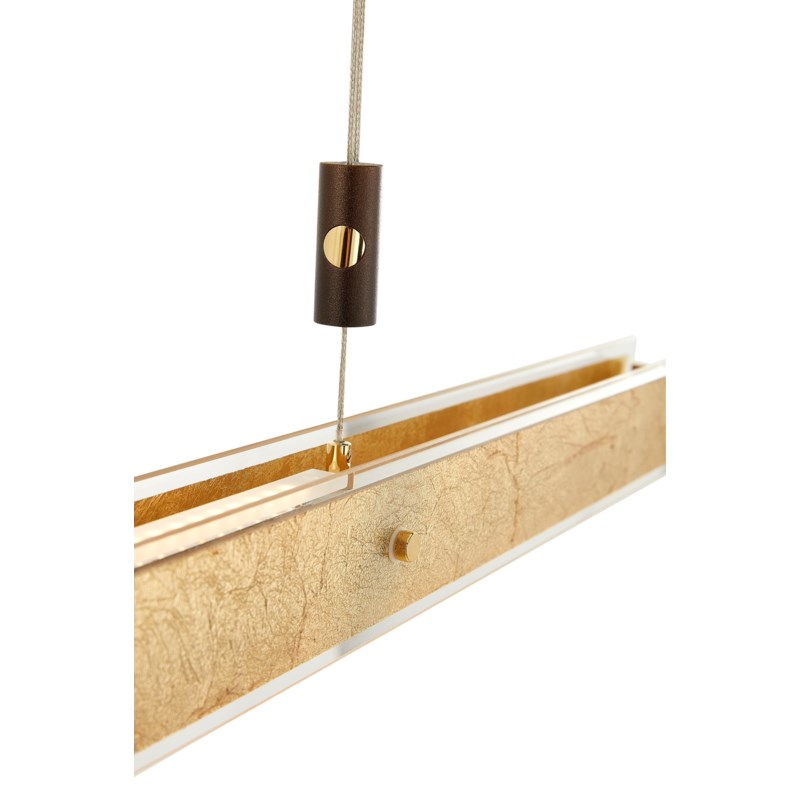 Linea Large Suspension in Gold Leaf with Bronze