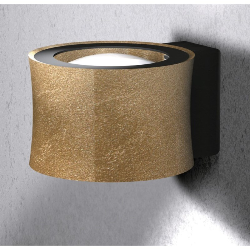 Impulse Wall Sconce in Gold Leaf with Black