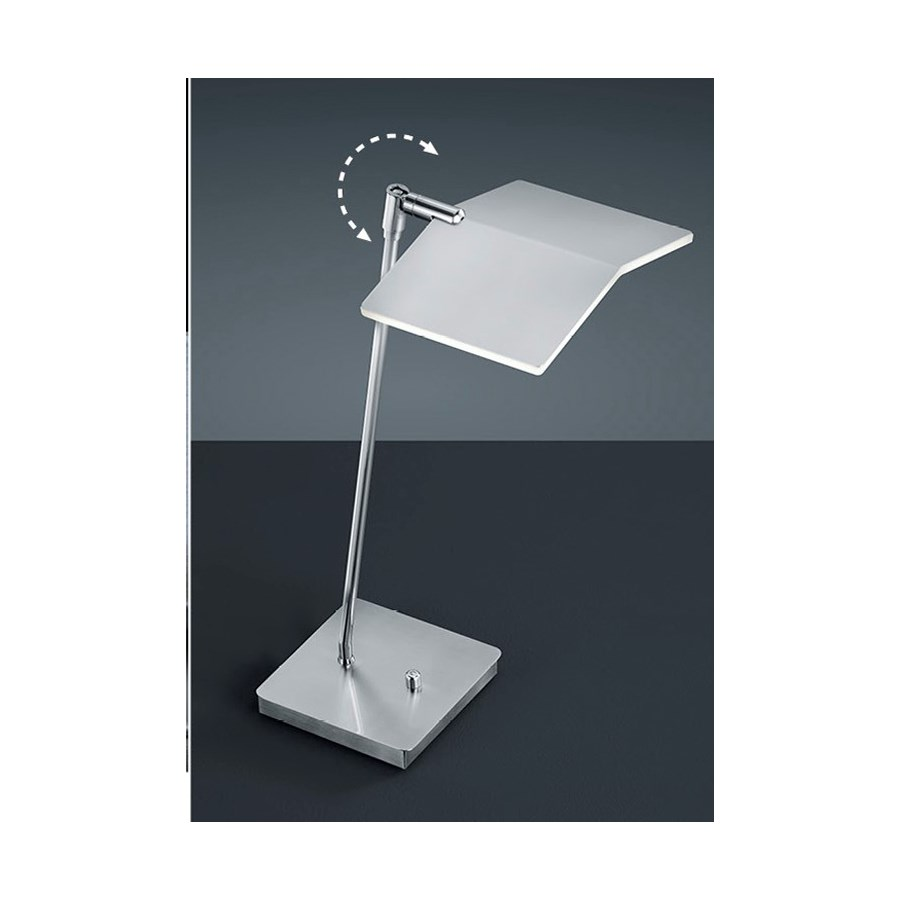 Book Table Lamp in Satin Nickel/Chrome