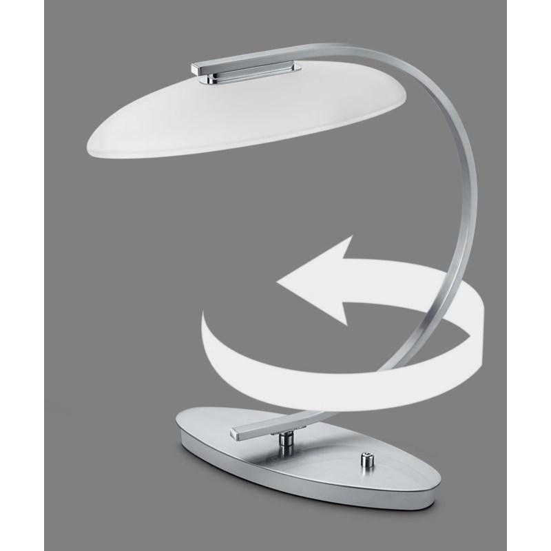 Vetro Table Lamp in Satin Nickel