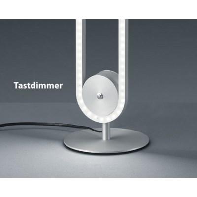 Line Table Lamp in Satin Nickel/Chrome
