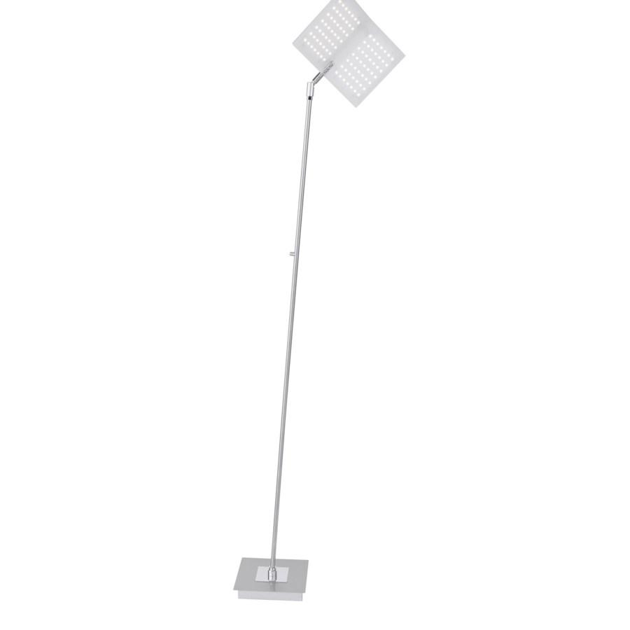 Book Floor Lamp in Satin Nickel