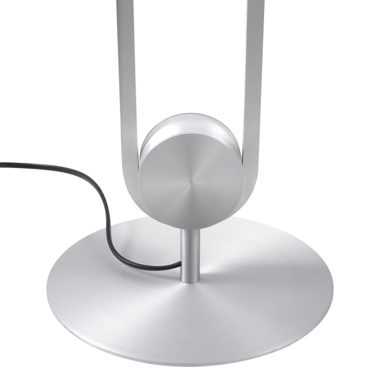 Line Floor Lamp in Satin Nickel