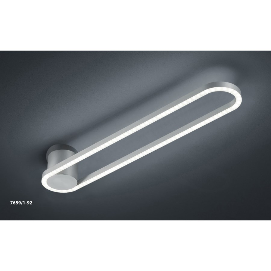 Line Ceiling Fixture in Satin Nickel/Chrome