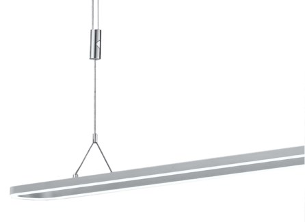 Line Pendant Fixture in Satin Nickel/Chrome