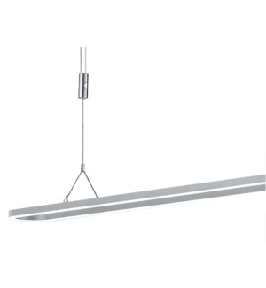 Line Pendant Fixture in Satin Nickel/Chrome