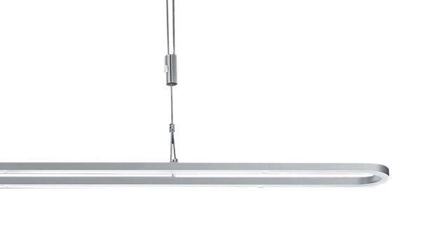 Line Pendant Large Fixture in Satin Nickel/Chrome
