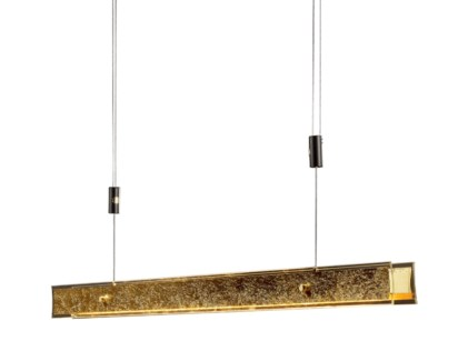 Linea Suspension in Gold Leaf with Bronze