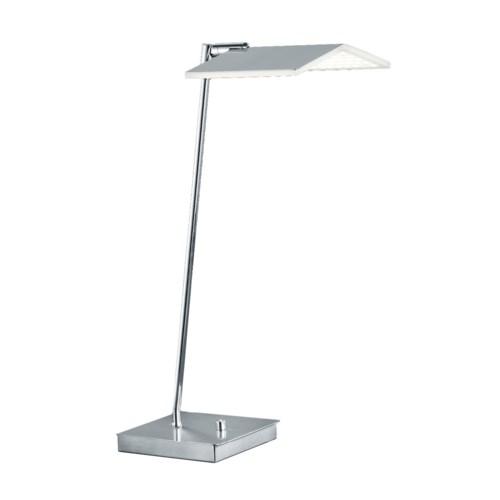 Book Table Lamp in Satin Nickel/Chrome