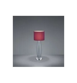 Opus Small Table Lamp in Smoked Glass with Aubergine Shade