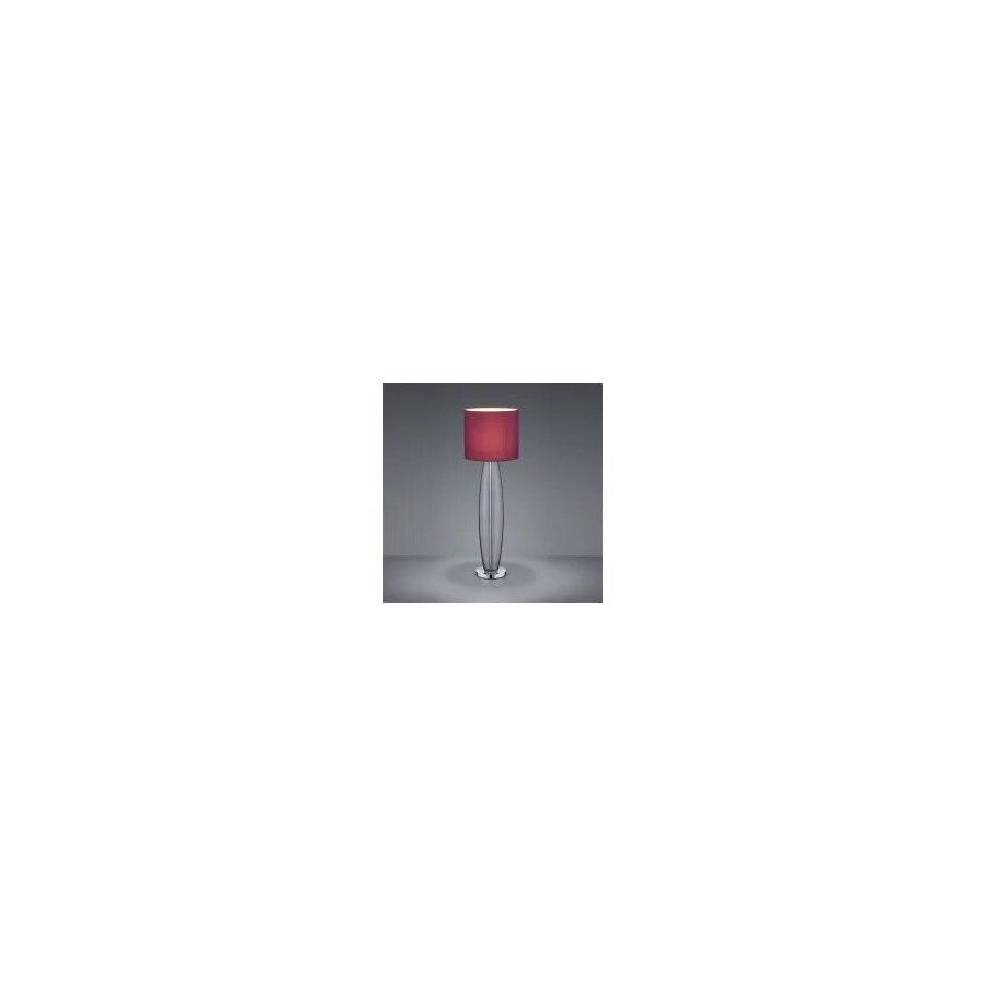 Opus Large Table Lamp in Smoked Glass with Aubergine Shade
