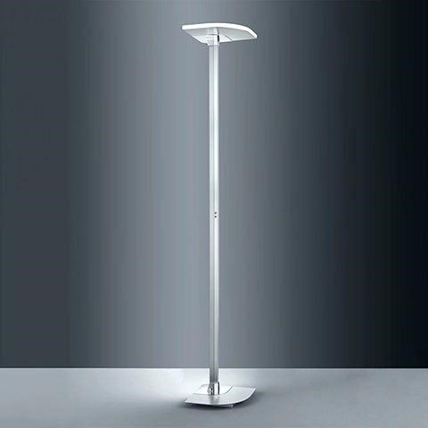Enzo Floor Lamp in Satin Nickel/Chrome