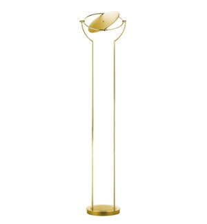 Astoria Floor Lamp in Satin Brass