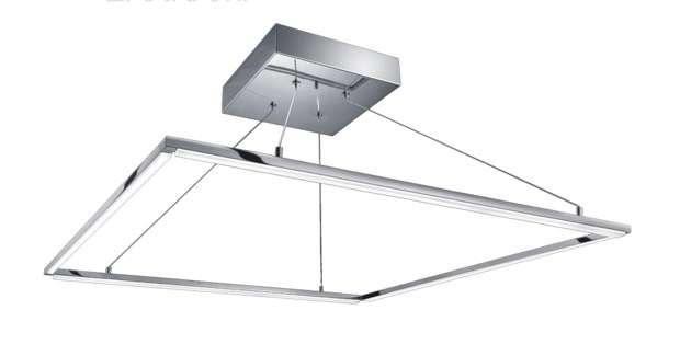 Slim Ceiling Fixture in Satin Brass