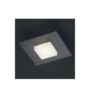 Diamond 1 Light Ceiling Fixture in Charcoal