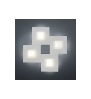 Diamond 4 Light Ceiling Fixture in Silver