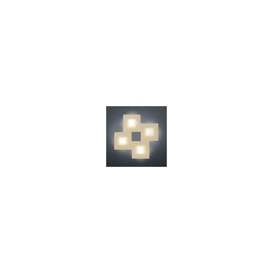 Diamond 4 Light Ceiling Fixture in Rose Gold