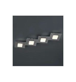 Diamond 4 Light Ceiling Fixture in Charcoal