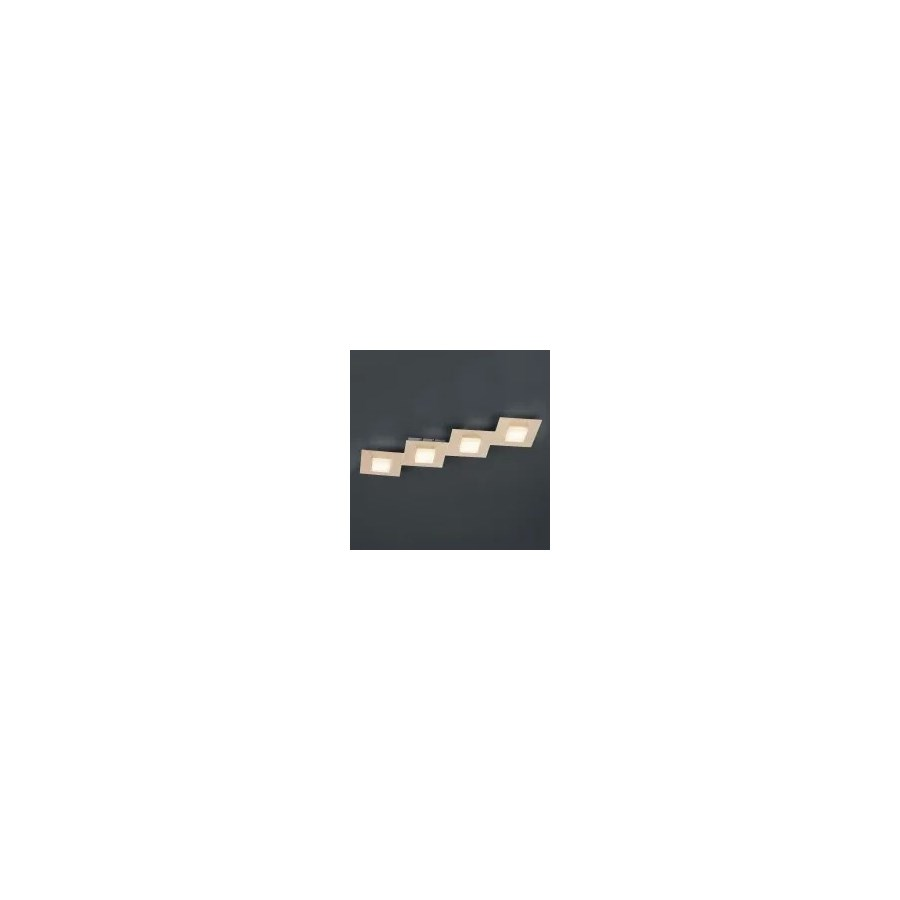 Diamond 4 Light Ceiling Fixture in Rose Gold