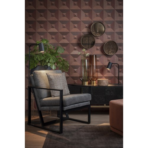 New Milo Loungechair Iron Frame With Ubaye Fabric