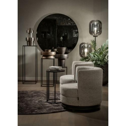 Mirror Round Frameless, Antique Glass