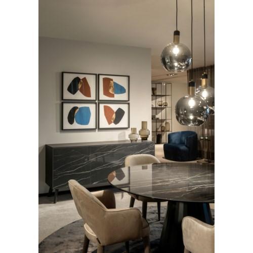 Buffet Cabinet, Etoile Gris Ceramics Front