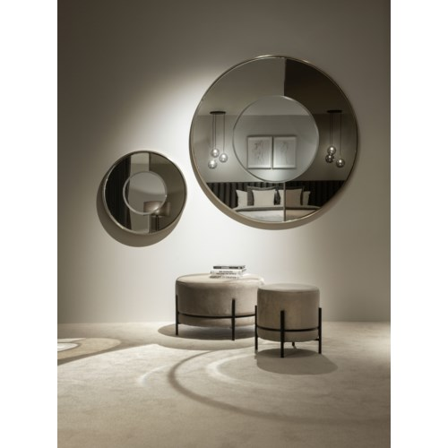 Mirror Iron With Part Bronze Glass