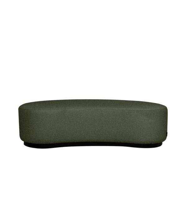 Curve Stool In Super Sensual Carlucci Fabric Green