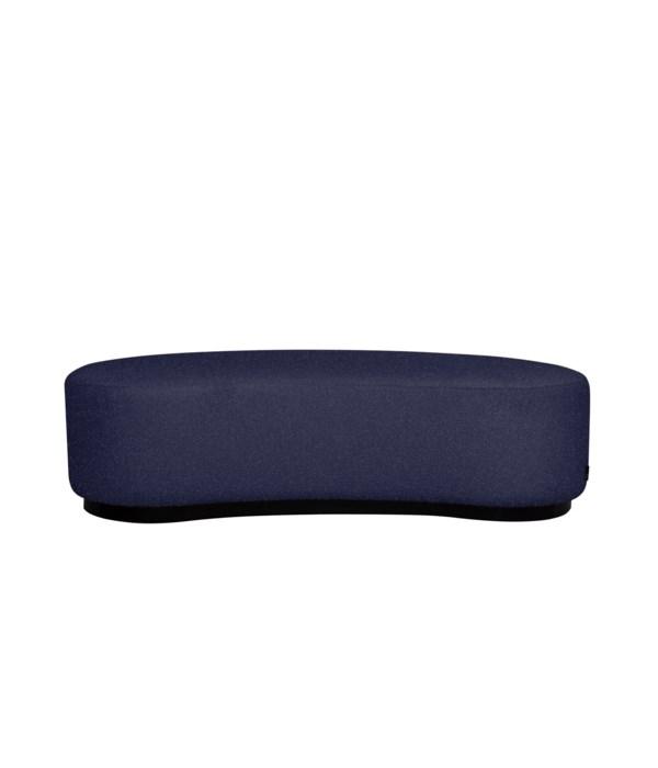 Curve Stool In Super Sensual Carlucci Fabric Blue