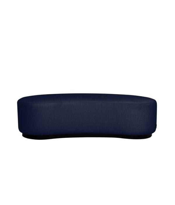 Curve Stool In Paris Dark blue