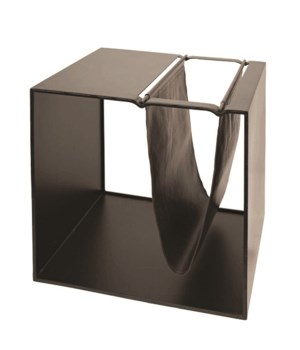 Magazine Rack With Brown Leather
