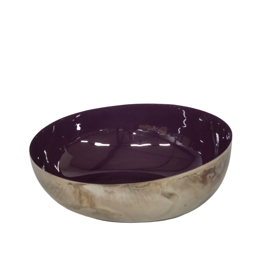 Bowl Enamel Inside, Bronze Outside