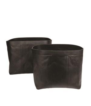 S/2 Baskets Bull Split Leather