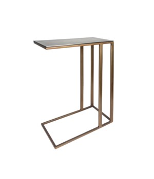 End Table Square, Gold-Blue Look