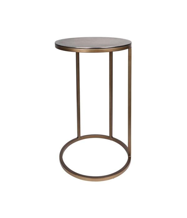 End Table Round, Gold-Blue Look
