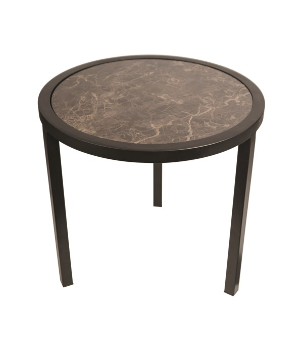 Round End Table With Marble Top