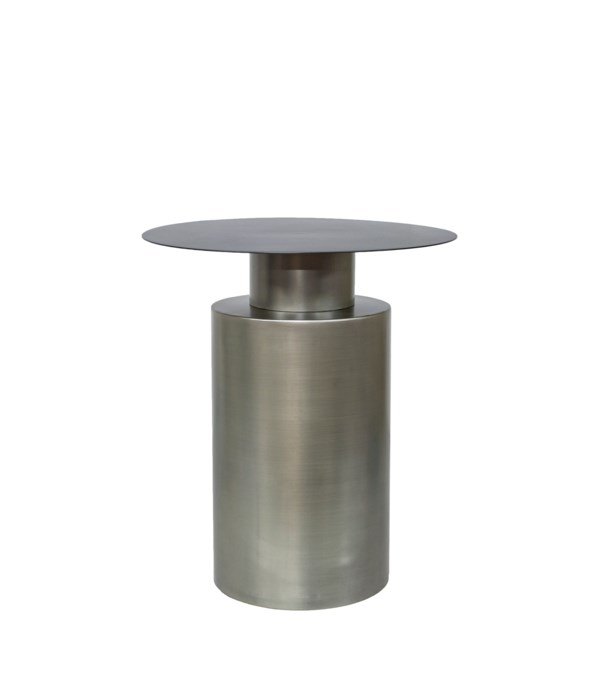 Side Table With Light Grey Zinc Base
