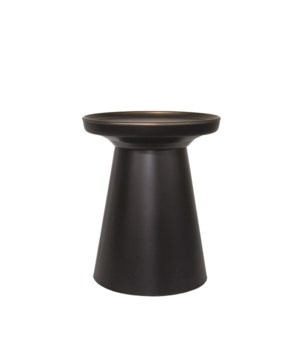 Side Table With Black Matt Base
