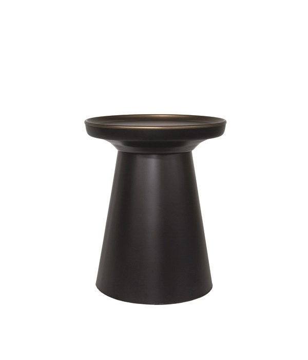 Side Table With Black Matt Base